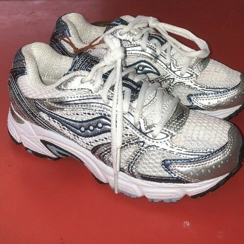 Saucony Women's Cohesion 4 Running Shoe - Size 7  White/Blue. - ShooDog.com