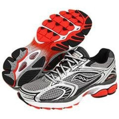 Men's Saucony Progrid Pinnacle 2  •Silver/Black/Red• RUNNING SHOES - ShooDog.com