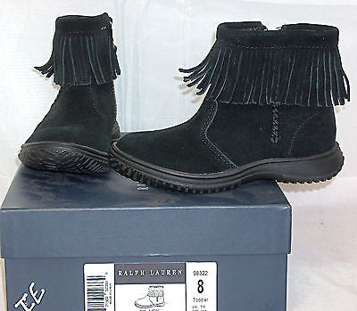 Ralph Lauren Papoose Boot  •BLACK• TODDLER