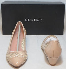 ELLEN TRACY Women's Bromy Laser Cut Wedge - Oyster - Multi SZ NIB - MSRP $89 - ShooDog.com