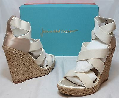 JEAN-MICHEL CAZABAT Women's Fela Wedge Espadrille - Bone - NIB - MSRP $295