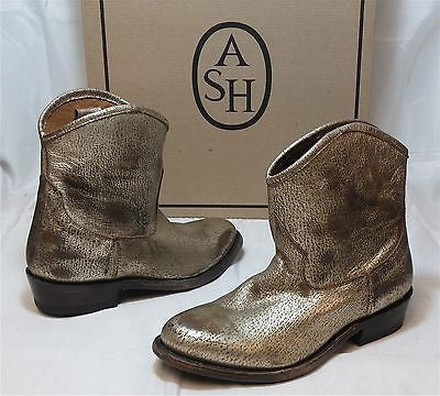 ASH ITALIA Women's Judy Boot - Platine Leather - ShooDog.com