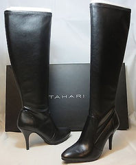 TAHARI Women's Yolanda Boot - Black Faux Leather -  MSRP $149