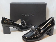TAHARI Women's Leigh Loafer Pump - Black Patent  - Size 7.5M - ShooDog.com