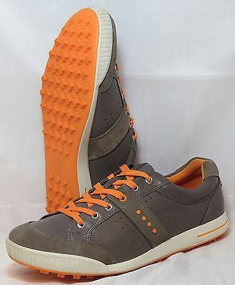 ECCO Men's Golf Street Premier - Grey/Fanta -  MSRP $150 - ShooDog.com