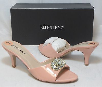 ELLEN TRACY Women's Kerry Slides - Powder/Pink - Multi Sz NIB - MSRP $55