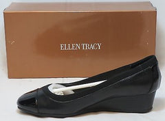 ELLEN TRACY Women's - Cancan-  Leather Wedge - ShooDog.com