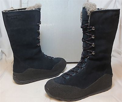 ROCKPORT Women's Katrina Lace Up Boot - Navy - SZ 6 & 8 only - NIB - MSRP $200 - ShooDog.com