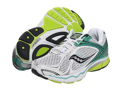 Saucony Women's Echelon 3 •White/Green/Citron• Running Shoe - Medium & Wide Width