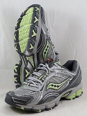 c0ee9423 SAUCONY Women's Grid Excursion TR5 •Silver/Grey/Green• Trail Running Shoe