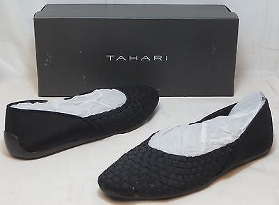 TAHARI Women's Kara Flat - Black Fabric - Multi SZ - NIB - MSRP $69 - ShooDog.com
