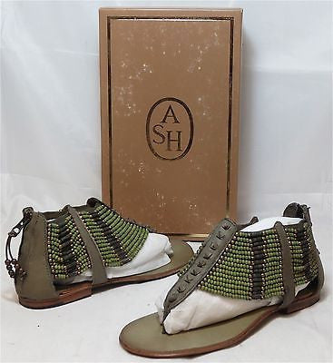ASH Women's Molly Sandal - Khaki Green/Multi - Multi SZ NIB - MSRP $175