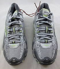 SAUCONY Women's Grid Excursion TR5  •Silver/Grey/Green• Trail Running Shoe - ShooDog.com