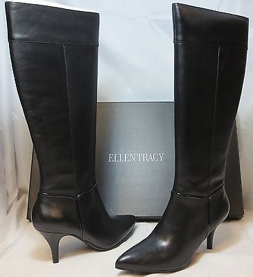ELLEN TRACY Women's Harmony Boot - Black Leather - - ShooDog.com