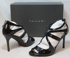 TAHARI Women's Choir Strappy Sandal - Black Patent - 6M - NIB - MSRP $ 99