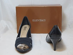 ELLEN TRACY Women's -Inna - Pump  •Black Patent• - - ShooDog.com