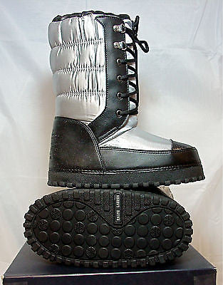 Ralph Lauren SNOW PROPRIETER Moon Boot  •Silver/BLk•