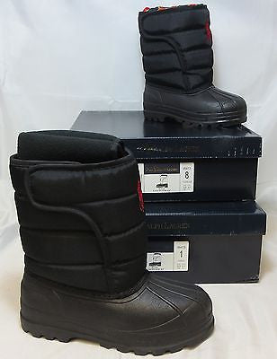 POLO RALPH LAUREN VANCOUVER EZ Snow Boots - Black • NIB • Multi-sizes