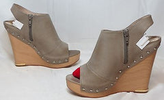 JEAN-MICHEL CAZABAT Women's Wanda Wedge - Taupe - 37M - MSRP $295 - ShooDog.com