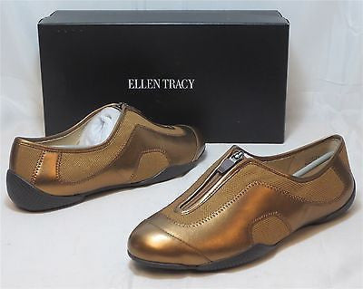 ELLEN TRACY Women's Astra Slip Ons - Dark Bronze - Sz 7.5,8,8.5 Only NIB MSRP$79