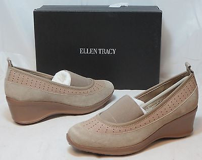 ELLEN TRACY Women's Waldo Wedge Slip On - Fog - Multi SZ - NIB - MSRP $79 - ShooDog.com