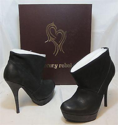 LUXURY REBEL Women's •Rita• Slouch Throat Bootie -Black- - ShooDog.com