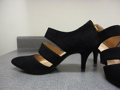 ELLEN TRACY Biana Black Suede Pumps •Black•