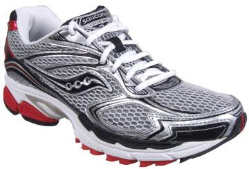 Men's Saucony ProGrid Guide 4 •SILVER/BLACK/RED• RUNNING SHOE - ShooDog.com