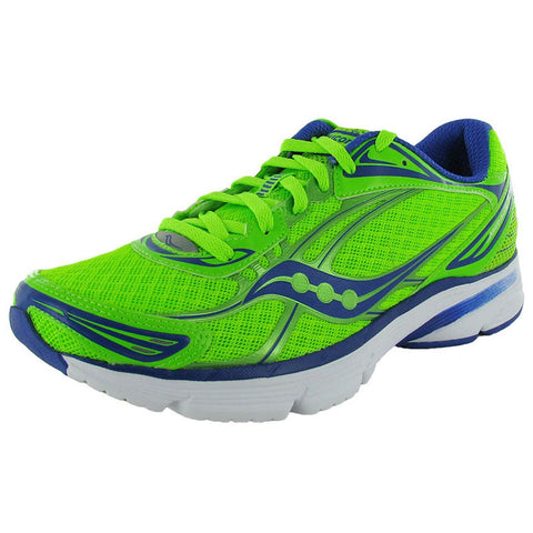 Men's Saucony ProGrid Mirage 3 •Green/Blue• Running Shoe - ShooDog.com