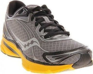 Men's Saucony Mirage 2 •Grey/Yellow • Running Shoe - ShooDog.com
