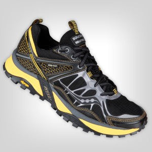 Saucony Men's Progrid Xodus 3.0 GTX Trail Running Shoe •Black/Yellow•