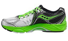 Men's Saucony PowerGrid Triumph 10 •White/Green• Running Shoe - ShooDog.com