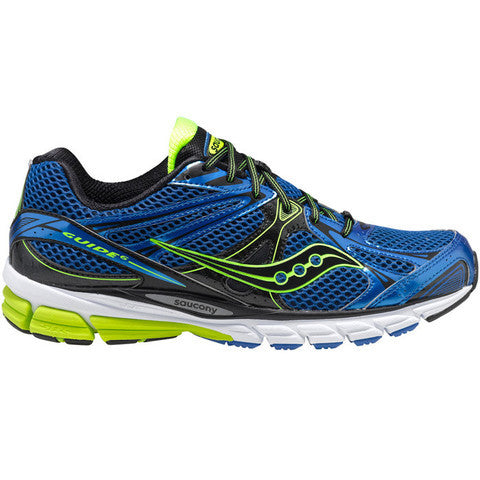 Mens Saucony ProGrid Guide 6 •Blue/Citron• Running shoes - ShooDog.com