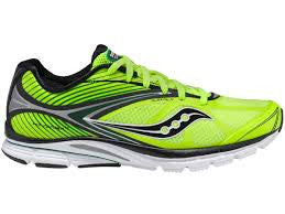 Mens Saucony  Kinvara 4 -Yellow/Black/Green- Running Shoe - ShooDog.com