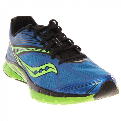 Mens Saucony  ProGrid Kinvara 4 •Blue/Black/Light Green• Running Shoe - ShooDog.com