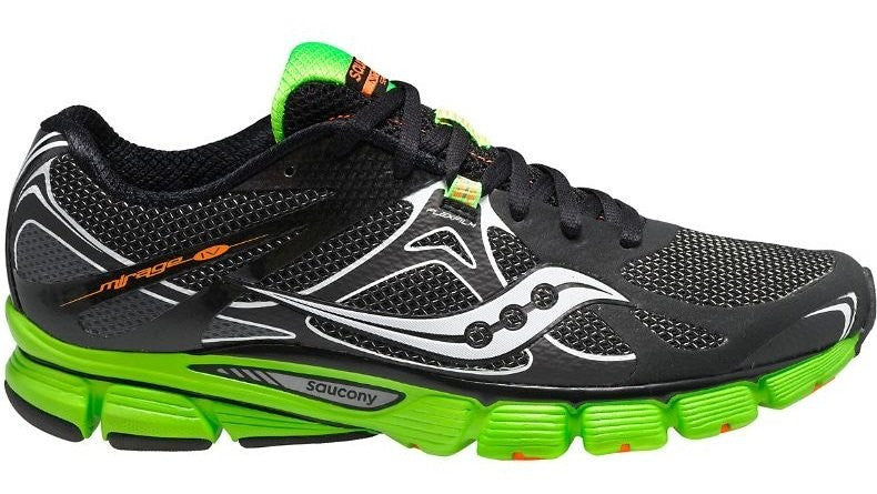 23b567f1 Men's Saucony Mirage 4 •Black/Green• Running Shoe