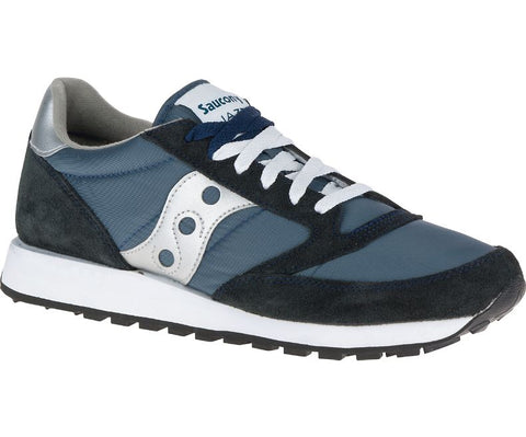 Men's Saucony Jazz •Navy/Silver•  Running Shoe - ShooDog.com