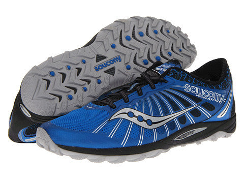 Mens Saucony Kinvara TR2 •Blue/Black• Trail Running Shoe - ShooDog.com