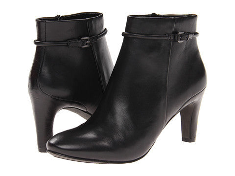 ECCO Women's Nephie •Black Leather• Lo-Cut Bootie