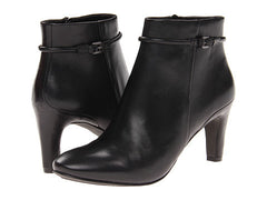 ECCO Women's Nephie •Black Leather• Lo-Cut Bootie - ShooDog.com