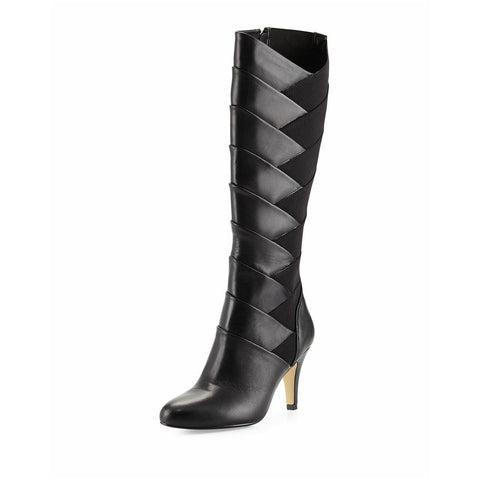 ADRIENNE VITTADINI Women's Traverse  •Black •  Layed tall Boot - ShooDog.com