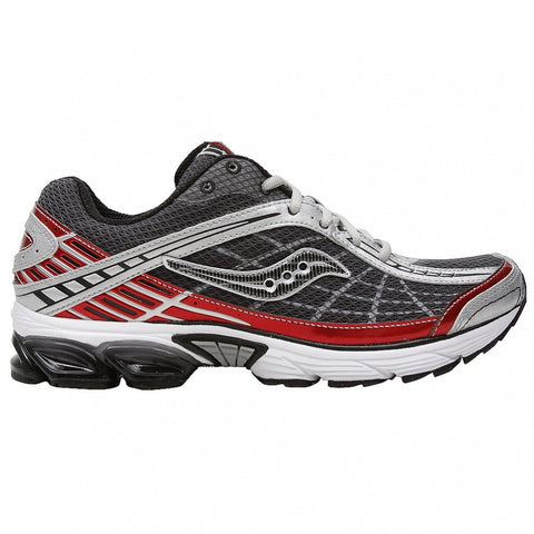 Men's Saucony GridRaider •Black/Red/Silver• Running Shoe - ShooDog.com