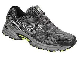 Men's Saucony Ridge TR2  •Black/Silver/Lime • Trail Running Shoe - ShooDog.com