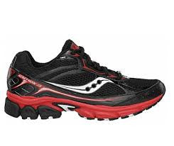 SAUCONY Men's Grid Ignition 3 -Black/Red/White- Running shoe