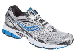 Men's Saucony Grid Stratos 5  •Silver/Blue• Running Shoe - ShooDog.com