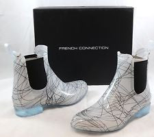 FRENCH CONNECTION Women's Nevis •White/Black• Rain Boot - ShooDog.com