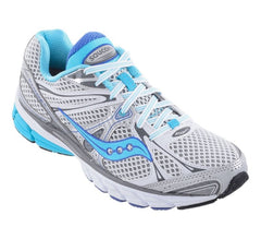 Women's Saucony ProGrid Guide 6 •White/Silver/Lt Blue• Running Shoe - NarrowWidth - ShooDog.com
