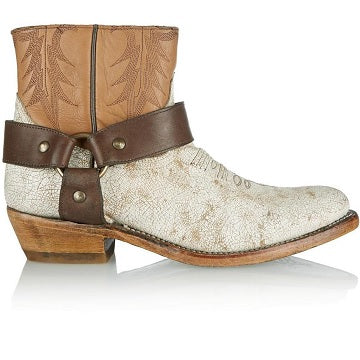 ASH ITALIA Women's •Katch•  Harness Boot - White/Natural - ShooDog.com
