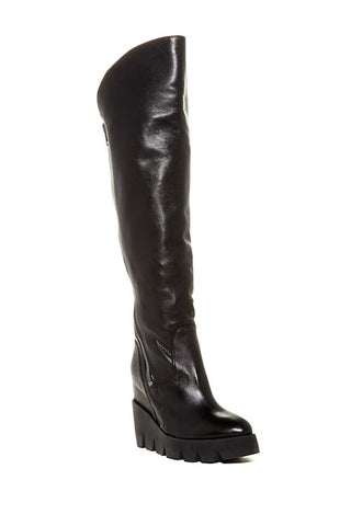 ASH Women's •Respect• Over-The-Knee Boot - Black Leather - ShooDog.com