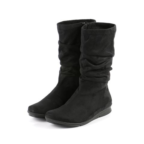 Bussola Women's •Combia 1560•  Mid-High Scrunch Boot - Black - ShooDog.com